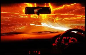 fiery road