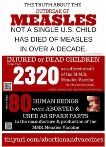 Vaccinations and measles chart