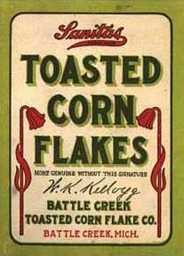 toasted corn flakes box