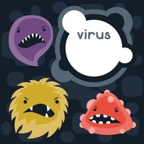 virus cartoonish graphic