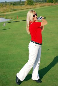 golf swing posture of subluxation