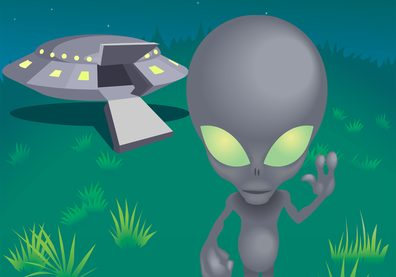corona alien and spaceship